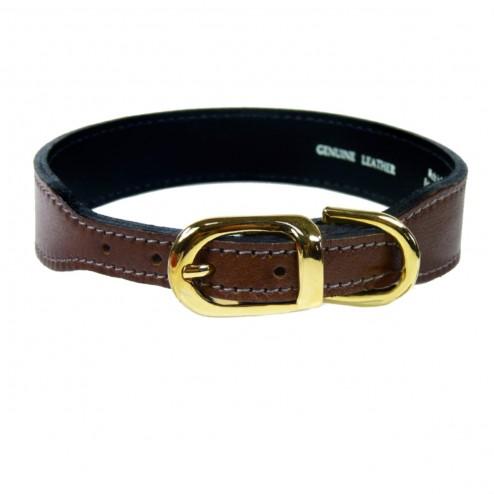 italian Brown Leather in Gold