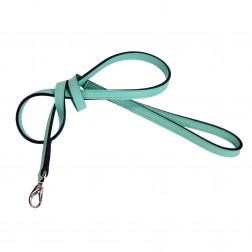 Italian Turquoise Leather & Nickel Lead
