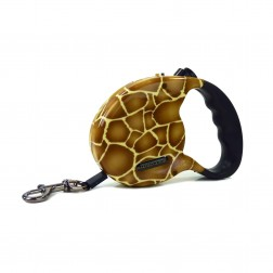Exotic Retractable Lead in Giraffe