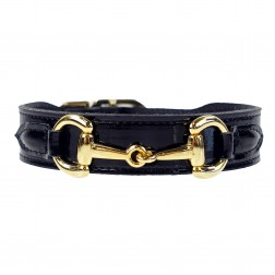 Belmont in Black Patent & Gold