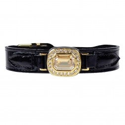 Haute Couture Octagon in Black Patent & Golden Shadow
