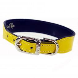 Italian Bright Yellow Patent Leather in Nickel
