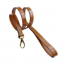 Italian Buckskin Leather & Gold Lead