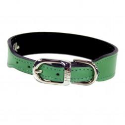 Italian Emerald Green Leather in Nickel