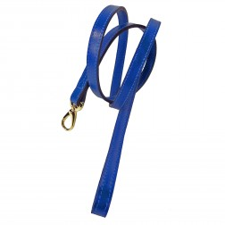 Italian Cobalt Blue Leather & Gold Lead