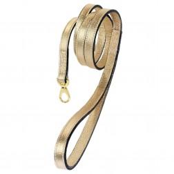 Italian Metallic Gold Leather & Gold Lead