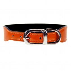 Italian Bright Orange Patent Leather in Nickel