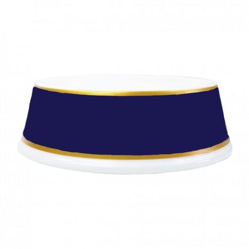 Porcelain Dog Bowl in French Navy