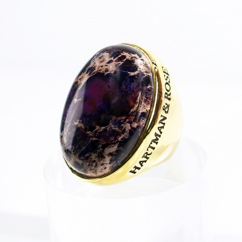 Purple Terra Jasper Ring