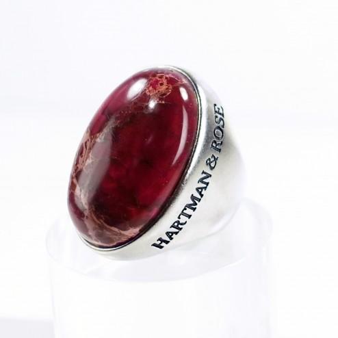 Red Terra Jasper Ring