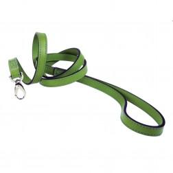 Italian Cut Grass Green Leather & Nickel Lead