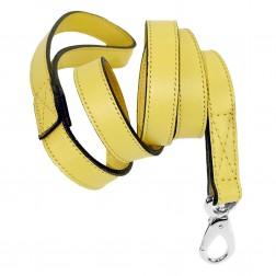 Italian Canary Yellow Leather & Nickel Lead