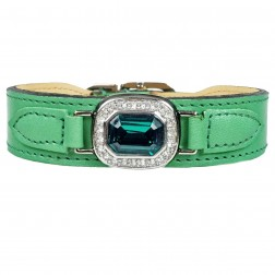 Haute Couture Octagon in Kelly Green, Emerald & Nickel