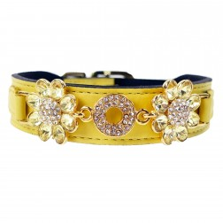 Daisy in Canary Yellow with Jonquil Crystals