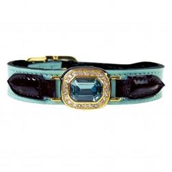 Haute Couture Octagon in Turquoise & Black Patent