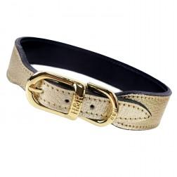 Italian Gold Metallic Leather