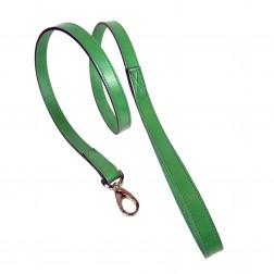 Italian Emerald Green Leather & Nickel Lead