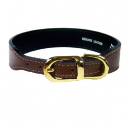 Italian Rich Brown Leather in Gold