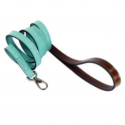 Mayfair Lead in Turquoise & Chocolate