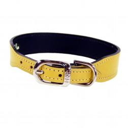 Italian Canary Yellow Leather in Nickel