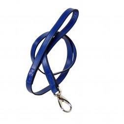Italian Cobalt Blue Leather & Nickel Lead